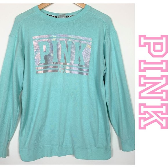 PINK Everyday Lounge Campus Crew Neck Sweater XS